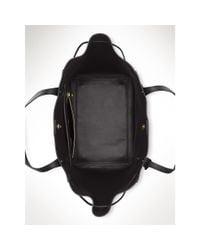 Ralph Lauren | Black Oxford Leather Tote | Lyst