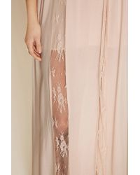 Forever 21 - Pink Lace-paneled Maxi Dress - Lyst