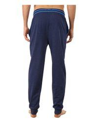 Kenneth Cole Reaction | Blue Fleece Back Jersey Cuffed Pants for Men | Lyst