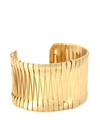 Kenneth Cole | Metallic Goldtone Woven Cuff Bracelet | Lyst