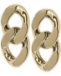 Michael Kors | Metallic Gold-Tone Curb Chain Stud Earrings | Lyst