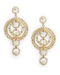 R.j. Graziano | Metallic Interlocking Linear Drop Earrings | Lyst