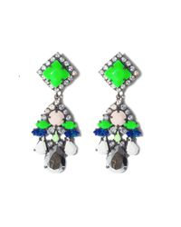 Shourouk - Green Square Earrings - Lyst