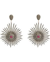 Carole Shashona | Red Soul Sparkler Drop Earrings | Lyst