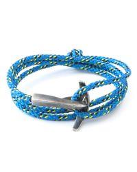 Anchor & Crew | All Blue Bruce Rope Bracelet for Men | Lyst
