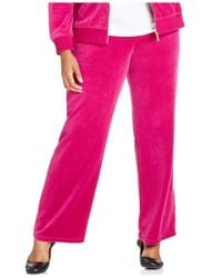 Michael Kors - Pink Michael Plus Size Pull-on Velour Pants - Lyst