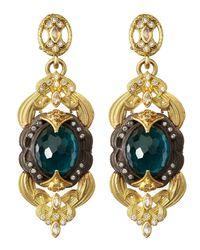 Armenta - London Blue Topaz Doublet Scroll Earrings - Lyst