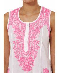 Juliet Dunn - Sleeveless Beach Dress Pink - Lyst