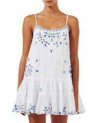 Juliet Dunn - Blue Mirrored Cami Dress - Lyst