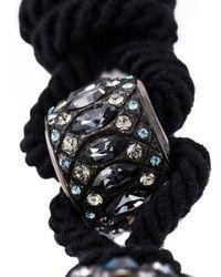 Lanvin | Black Tassel Detail Necklace | Lyst