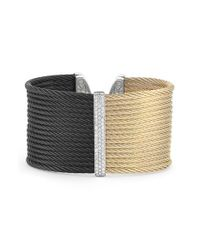 Alor | Metallic Two Tone Diamond Cuff | Lyst