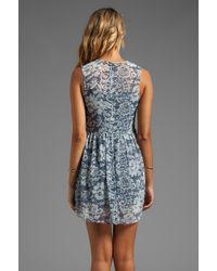 Dolce Vita - Dv By Eniko Lace Print Dress in Blue - Lyst