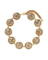 Lulu Frost | Multicolor 'audrey' Glitter Dome Station Necklace | Lyst