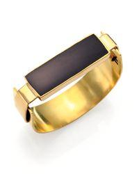 Aesa - Little Reeve Black Onyx Cuff Bracelet - Lyst