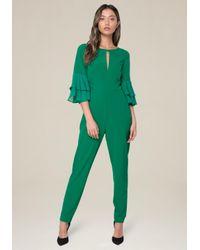 Bebe - Green Nora Jumpsuit - Lyst