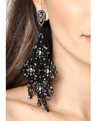 Bebe - Metallic Oversize Flower Earrings - Lyst