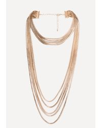 Bebe - Multicolor Layered Chain Necklace - Lyst