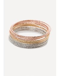 Bebe - Metallic Colorful Bangle Set - Lyst