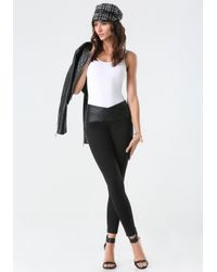 Bebe   Black Petite Super Curve Leggings   Lyst