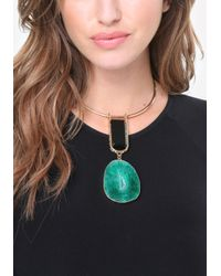 Bebe | Green Agate Pendant Necklace | Lyst