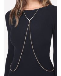 Bebe - Blue Crystal Chevron Body Chain - Lyst