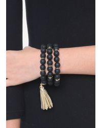 Bebe - Black Bead Bracelet Set - Lyst