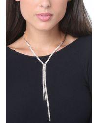 Bebe - Multicolor Crystal Lariat Necklace - Lyst