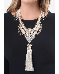 Bebe | Metallic Lavish Statement Necklace | Lyst