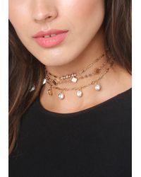 Bebe - Metallic 3 Choker Set - Lyst