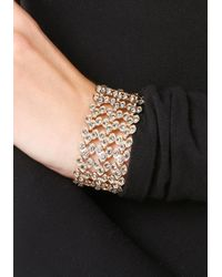 Bebe - Metallic Ornate Crystal Bracelet - Lyst
