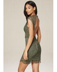 Bebe - Green Madison Lace Dress - Lyst