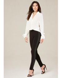 Bebe - Black Basic Tux Leggings - Lyst