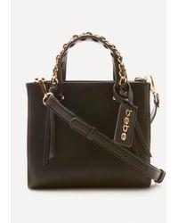 Bebe | Black Chain Trim Crossbody Bag | Lyst
