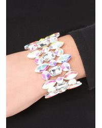 Bebe - Multicolor Ab Crystal Stretch Bracelet - Lyst