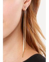 Bebe - Metallic Snake Front-back Earrings - Lyst