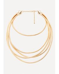 Bebe | Metallic Omega Chain Necklace | Lyst