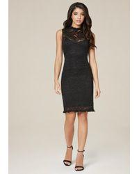 Bebe   Black Meghan Lace Dress   Lyst