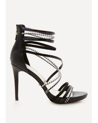 Bebe | Black Ninna Strappy Sandals | Lyst