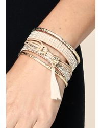 Bebe - Metallic Friendship Bracelet Set - Lyst