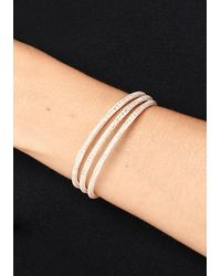 Bebe - Multicolor Crystal Triple Row Cuff - Lyst