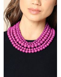 Bebe | Pink Beaded Layer Necklace | Lyst