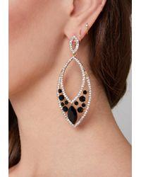 Bebe - Metallic Faux Jet Statement Earrings - Lyst