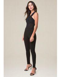 Bebe - Black Mesh Bodysuit - Lyst