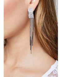 Bebe - Metallic Crystal Drop Earrings - Lyst