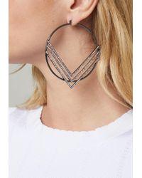 Bebe - Multicolor Chevron Hoop Earrings - Lyst