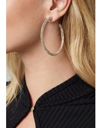 Bebe - Multicolor Crystal Hoop Earrings - Lyst