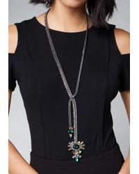 Bebe - Metallic Jewel Lariat - Lyst