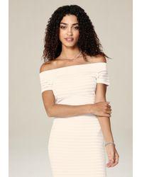 Bebe - Multicolor Off Shoulder Sweater - Lyst