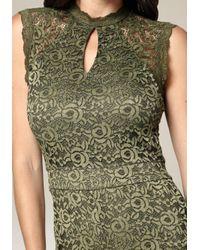 Bebe - Green Skylar Lace Romper - Lyst