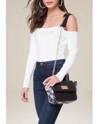 Bebe - White Winter Rose Crossbody Bag - Lyst